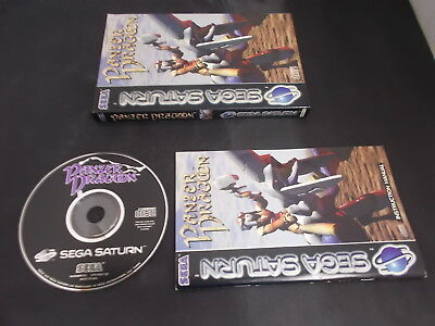 Sega Saturn Pal Game PANZER DRAGON with Box Instructions
