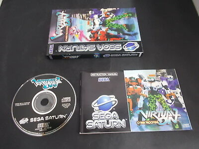 Sega Saturn Pal Game (A) VIRTUAL ON CYBER TROOPERS with Box Instructions