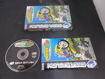 Sega Saturn Pal Game MANX TT SUPERBIKE with Box Instructions