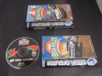 Sega Saturn Pal Game (A) SEGA RALLY CHAMPIONSHIP with Box Instructions