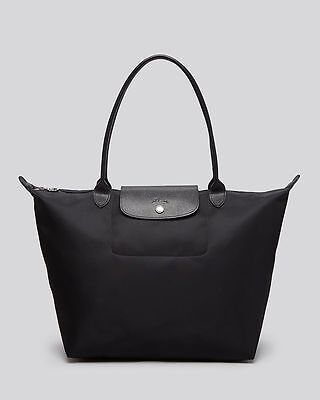 NEW AUTHENTIC LONGCHAMP LE PLIAGE Nylon Tote Bag black Large