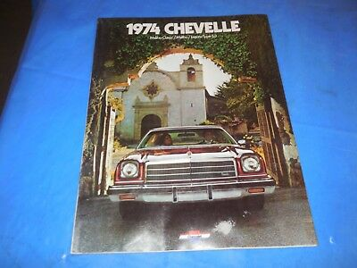 1974 Chevelle Original Sales Brochure! Super Information And Pictures!!