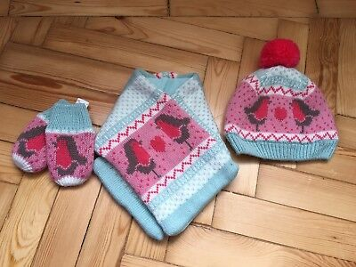Marks and Spencer Childrens Hat Scarf and Mittens Set 6-18months