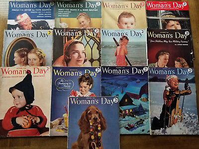 Woman's Day Magazines Lot of 13 Vintage Magazines 1940 & 1941