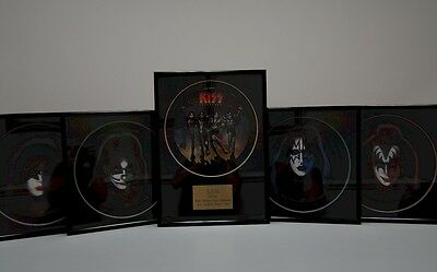 "Vintage KISS Album, Set of 4 Solos, ""Farewell Tour"", Framed"