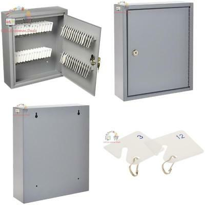 Business Commercial Key Cabinet Storage Box Lock Safe Wall Holder 10x3x12 New