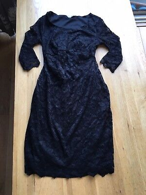 Black Lace Maternity Dress New Look Size 8