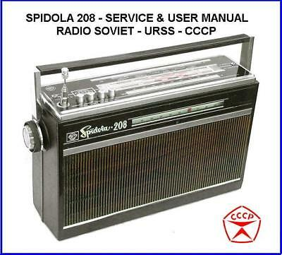Spidola 208 User & Service Manual Sw World Om Ol Fm