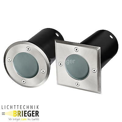 LED Recessed floor luminaire LED Patio down light Frosted glass 6 Watt