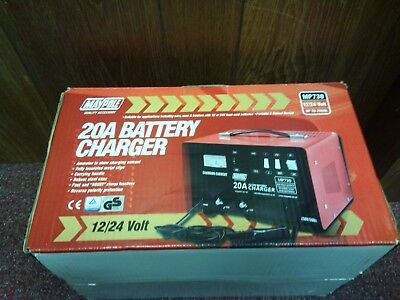 Car Van Tractor Maypole 20 Amp Portable Battery Charger 12/24 Volt MP730