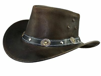 Thor Equine Children's Leather hat Cowboy Hat Western Hat,Warenda Junior,Brown,