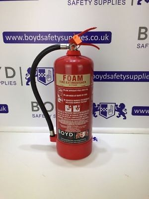6 Litre (Ltr/L) Foam Fire Extinguisher - Manufactured in 2012