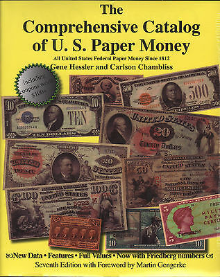 Comprehensive Catalog of United States Paper Money 7th Ed FREE Shipping in USA