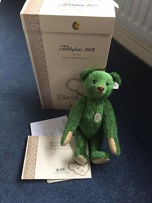 Limited Edition Steiff Bears, 1908 Green, Polar Ted, Ode To Joy, Theodore