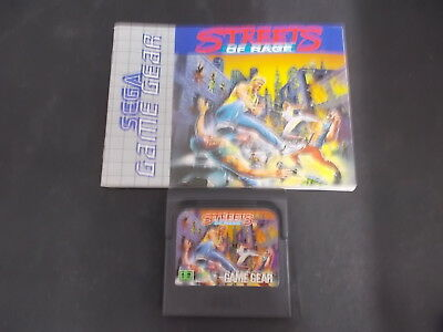 Sega Game Gear Game Pal with Instructions STREETS OF RAGE