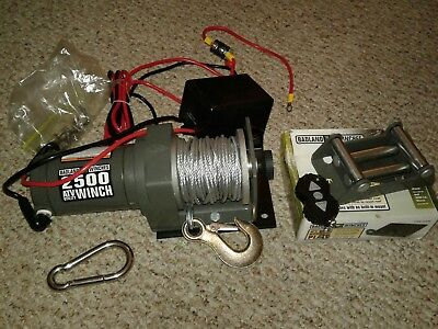 Badland 2500 lb 12V Electric Trailer UTV ATV Winch w/Wireless Remote Control