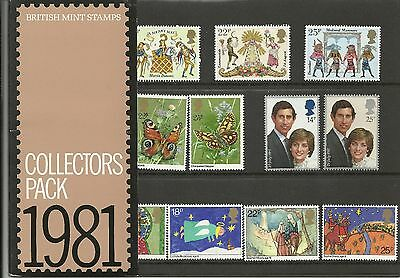 GREAT BRITAIN COLLECTORS PACK 1981 SG CP1174a