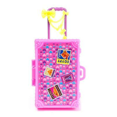1 2 4 pcs 3D Lovely Kid Child Travel Train Suitcase Luggage for Barbie Doll LQUS