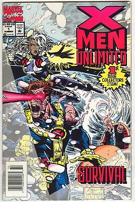 Nice, Solid Run, X-Men Unlimited #1, 2, 3, 4, 5, 6, 7, and 32 (1993, Marvel), NM