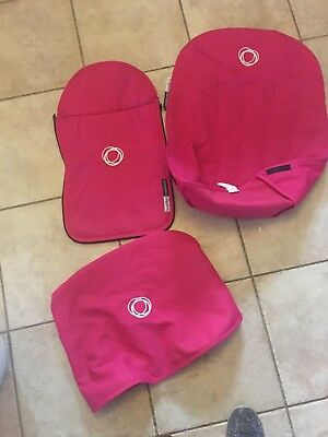 Bugaboo Cameleon 1 2 & 3 Hot Pink Hood Canopy, Seat Liner & Apron