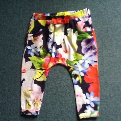 Ted Baker floral girls trousers 9-12 months
