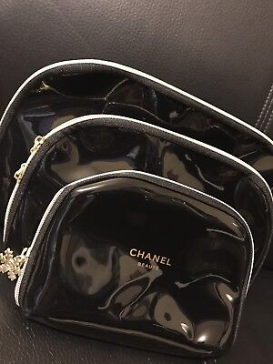 Chanel Make Up Cosmetic Bags Set Of 3 - Brand New