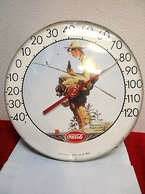 Vintage Coca Cola Norman Rockwell TCA Jumbo Dial Thermometer, -- RARE read below