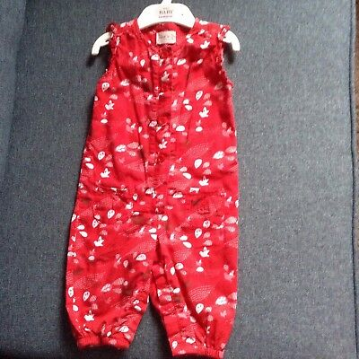 Red dungarees size 6-9 months