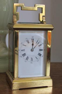 ANTIQUE GOLDEN FRENCH CARRIAGE CLOCK early Richard et cie