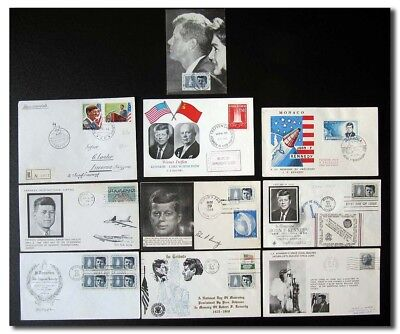 US president Kennedy collection of 10 event covers - 2f58