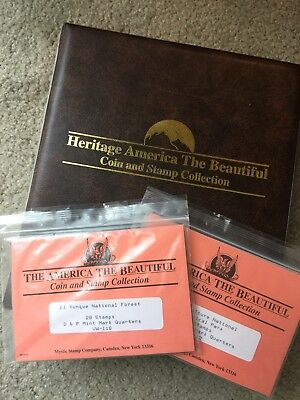 """Mystic Stamps """"america The Beautiful"""" State Quarters Coin And Stamp Collection"""