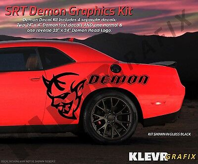 NEW Large Dodge Demon Challenger SRT Vinyl Body Graphics Decal Sticker Kit Mopar