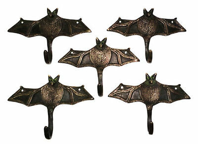 A set of 5 Awesome & attractive Brass made Unique BAT Designed coat hooks INDIA