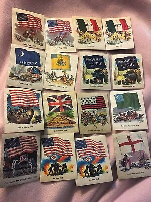 26 Fleer Chewing Gum Stkr TRADING CARD National Flag Foundation Vintage '75-'76