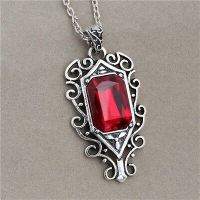 The Mortal Instruments Isabelle Lightwood's Ruby Necklace in silver