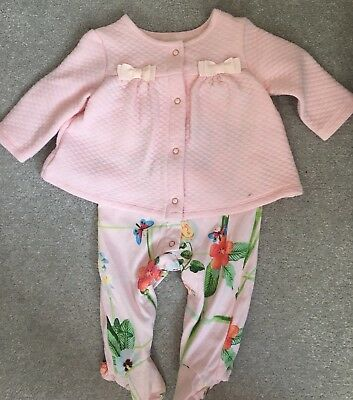 Ted Baker Baby Girl Floral Outfit, All In One, 0-3 Months