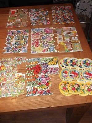 mamelok scrap reliefs huge job lot craft clear out,stunning florals x 27 sheets