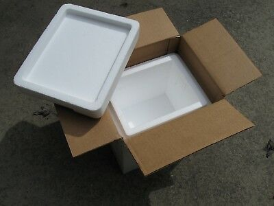 """Perma Cool - styrofoam insulated cooler shipping box 11L""""x11H""""x9W"""" with Gel Pack"""