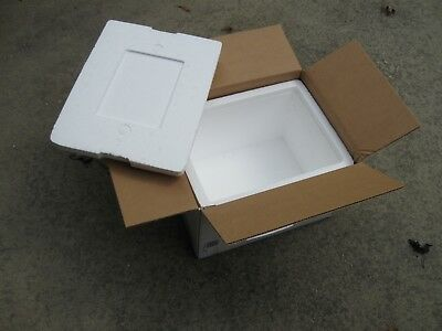 """Styrofoam Insulated Shipping Box Cooler 13""""Lx10""""Wx9""""H with Gel Pack"""