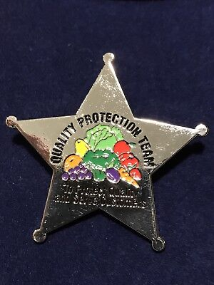 EXTREMELY RARE !! PUBLIX Quality Protection Team Produce Pin Sheriffs Badge