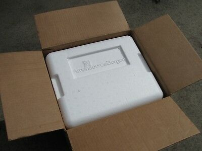 """Styrofoam Insulated Shipping Box Cooler 13.5""""Lx12""""Wx10""""H with Gel Pack"""