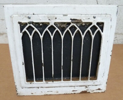 Antique Vintage Wall Heat Grate Register Working Operable Cathedral Gothic #3