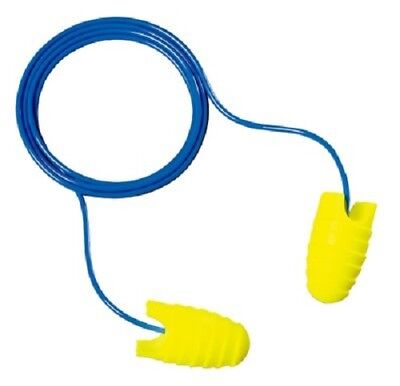 3M E-A-Rsoft Grippers Ear Plugs Corded 25 Pair Individually Packed Pairs Large