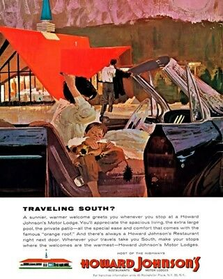 Traveling South Howard Johnsons 8X10 Vintage Ad 555160917