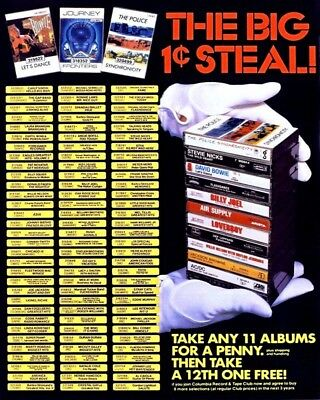 Take Any 11 Albums For A Penny 8X10 Vintage Ad 481160917