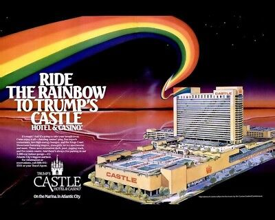 Ride The Rainbow To Donald Trumps Castle Hotel 8X10 Vintage Ad 420160917