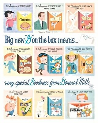Special Goodness From General Mills Cereals 8X10 Vintage Ad 464160917