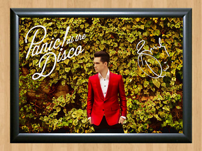 Brendon Urie Panic at the Disco Signed Autographed A4 Photo Poster Memorabilia 3