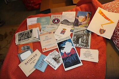large lot travel memorabilia from post WWII Europe (1945) owned by American sold