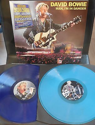 DAVID BOWIE - MAN I'M IN DANGER - RARE LIVE 2LP BLUE COLORED no TMOQ
